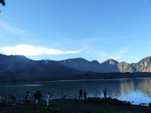 Rinjani lake view