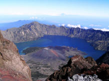Mount rinjani lake view